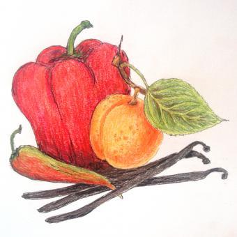 Mostarda Aprikose-Paprika